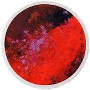Abstract 88113013 Round Beach Towel