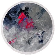 Abstract 88114010 Round Beach Towel