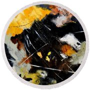 Abstract 8811601 Round Beach Towel