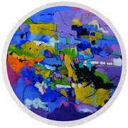 Abstract 8861012 Round Beach Towel