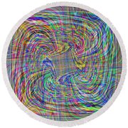Abstract 9 Round Beach Towel