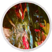 Abstract 9000 Round Beach Towel