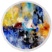 Abstract 900003 Round Beach Towel