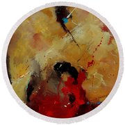 Abstract 901156 Round Beach Towel
