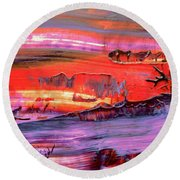 Abstract 9032 Round Beach Towel