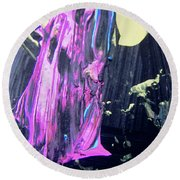 Abstract 9064 Round Beach Towel
