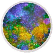 Abstract 92 Round Beach Towel