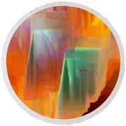 Abstract 9364 Round Beach Towel