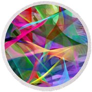 Abstract 9488 Round Beach Towel