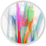 Abstract 9501-001 Round Beach Towel