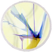 Abstract 9503-001 Round Beach Towel