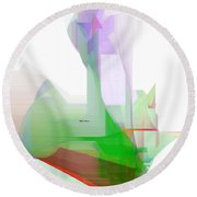 Abstract 9506-001 Round Beach Towel