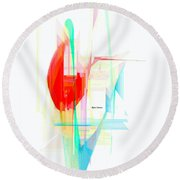 Abstract 9507 Round Beach Towel