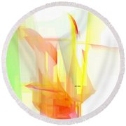 Abstract 9508 Round Beach Towel
