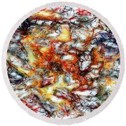 Abstract 9591 Round Beach Towel