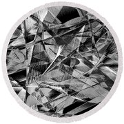 Abstract 9637 Round Beach Towel