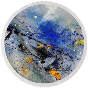 Abstract 969090 Round Beach Towel