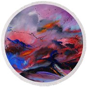 Abstract 971260 Round Beach Towel