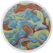Abstract 972 Round Beach Towel