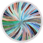 Abstract A331716 Round Beach Towel