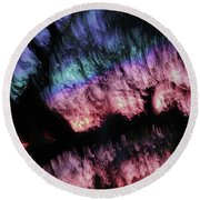 Abstract Accident Round Beach Towel