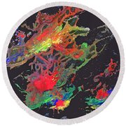 Abstract Andromeda Round Beach Towel