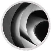 Abstract Architectural Ceiling, Curves And Round Lines Round Beach Towel