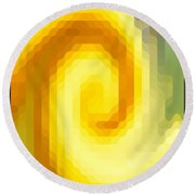 Abstract Art 4 Round Beach Towel