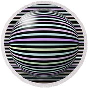 Abstract Art 6 Round Beach Towel