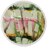 Abstract Art Fifty-six Round Beach Towel