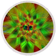 Abstract Art IIi Round Beach Towel