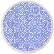 Abstract Art - Lavender Round Beach Towel