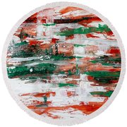Abstract Art Project #24 Round Beach Towel