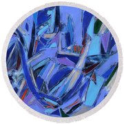 Abstract Art Twenty-four Round Beach Towel