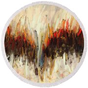 Abstract Art Twenty-one Round Beach Towel