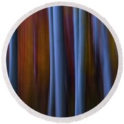 Abstract Aspens Round Beach Towel
