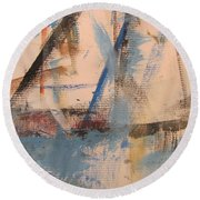 Abstract At Sea 1 Round Beach Towel