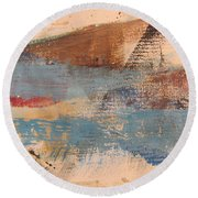Abstract At Sea 2 Round Beach Towel