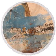 Abstract At Sea 4 Round Beach Towel