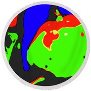 Abstract Baby Apple Round Beach Towel