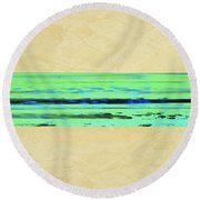Abstract Beach Landscape  Round Beach Towel