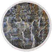Abstract Bleeding Concrete Round Beach Towel