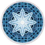 Abstract Blue 14 Round Beach Towel