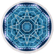 Abstract Blue 20 Round Beach Towel