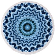 Abstract Blue 25 Round Beach Towel