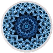Abstract Blue 30 Round Beach Towel