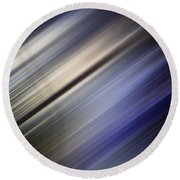 Abstract Blurred Blue And Gray Background Round Beach Towel