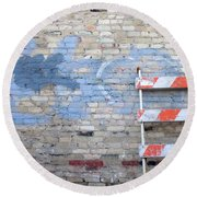 Abstract Brick 2 Round Beach Towel