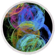 Abstract Bubbles Round Beach Towel