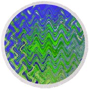 Abstract By Photoshop 50 Round Beach Towel
